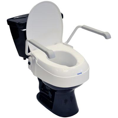 Living Well Angle Adjustable Toilet Seat Raiser