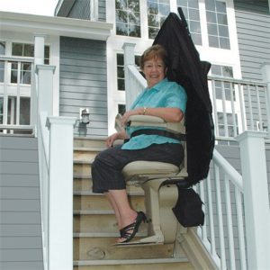 Living Well Elite Outdoor Straight Stair Lift