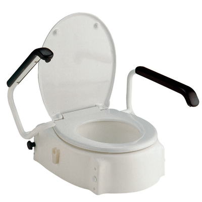 Living Well Elongated Toilet Seat Raiser