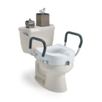 Living Well Raised Toilet Seat w/ Removable Arms