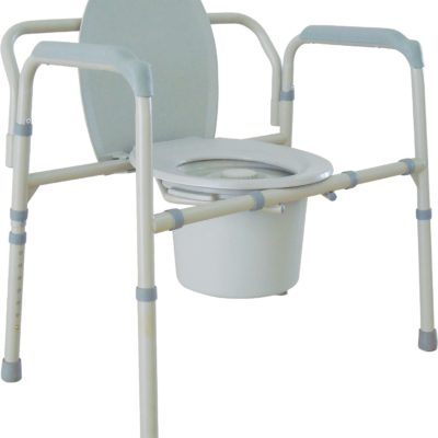 Living Well Bariatric Folding Commode
