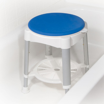 Living Well Bath Stool with Rotating Seat