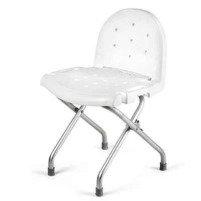 Living Well Folding Shower Chair with Back
