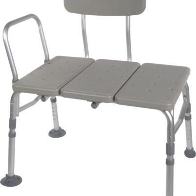 Living Well Transfer Bench with Adjustable Backrest