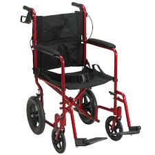Living Well Aluminum Transport Chair