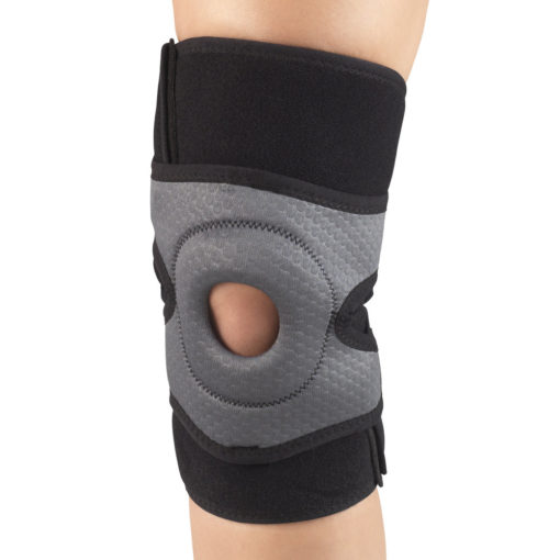 Living Well C-476 Multilayer Knee Wrap with Stabilizer Pad