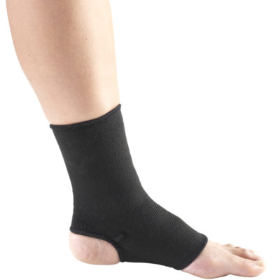 Living Well C-215 Black Elastic Ankle Support