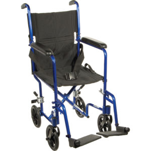 Drive Aluminum transport chair 17 or 19 blue